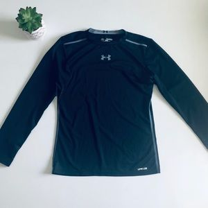 Under Armour Fitted Athletic Long Sleeve Tee Black